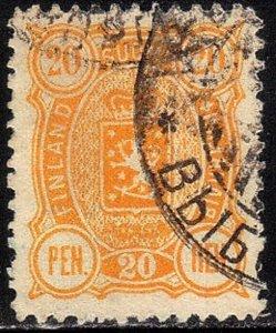 FINLAND SCOTT# 41  1892 20p SEE SCAN