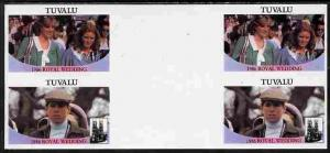 Tuvalu 1986 Royal Wedding (Andrew & Fergie) $1 imperf...