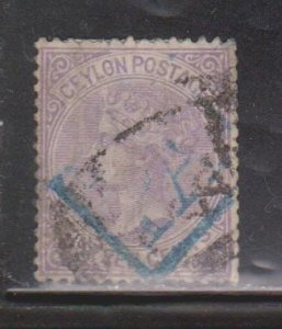 CEYLON Scott # 67 Used - Queen Victoria