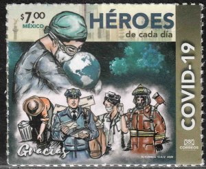 MEXICO NEW ISSUE, COVID-19 EVERYDAY HEROES, 2020. MINT NH VF.