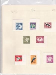 nauru  1966 - 1973  mounted mint stamps ref r13024