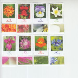 2019 Germany Flower Definitives (8) (Scott NA) MNH