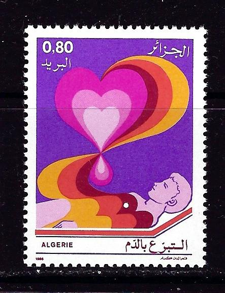 Algeria 817 NH 1986 Blood Donors