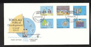 Tokelau 151-156 Politics 1988 U/A FDC
