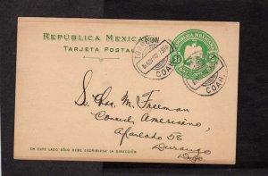Mexico Republica Mexicana Tarjeta Postal 1907 Coah Postal Card
