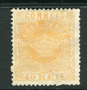 PORTUGAL CABO VERDE;  1877 early classic Crown Type Mint unused 40r. value