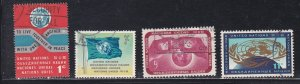 United Nations - New York # 104-107, Definitives, Used, 1/3 Cat.