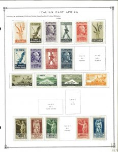 Italian East Africa MH in Mounts (1 postally used) on Scott International Pages