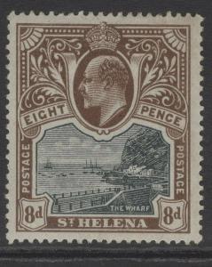 ST.HELENA SG58 1903 8d BLACK & BROWN MTD MINT