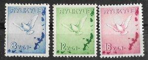 Ryukyu Islands # C1-3    Dove and Map   (3) Mint NH