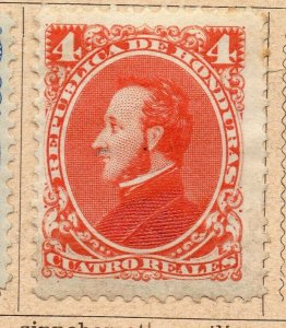 Honduras 1878-89 Early Issue Fine Mint Hinged 4r. NW-11871