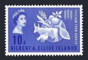 Gilbert & Ellice 76 block/4,MLH/MNH.Mi 74. FAO.Freedom from Hunger campaign,1963