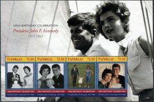 Tuvalu 2017. John F. Kennedy, 1917-1963 (I) (MNH OG) Miniature Sheet