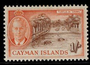 CAYMAN ISLANDS GVI SG144, 1s brown & orange, M MINT.