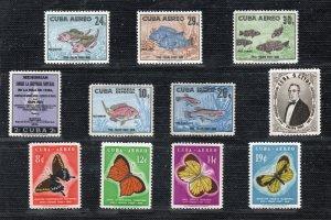1958 - Cuba - Sc.  608 - 609 - C 185 - C 191 - U.  26 - 27 - MNH - CU- 35 - 00