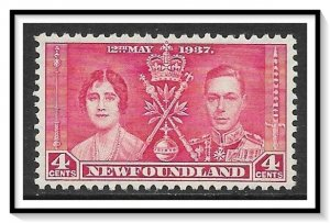 Newfoundland #232 Coronation Issue MH
