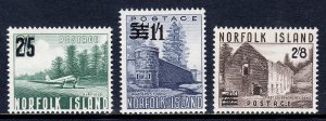Norfolk Island - Scott #26-28 - MNH - Gum bump #27 - SCV $16