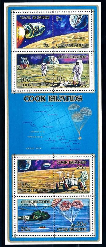 [64616] Cook Islands 1972 Space Travel Weltraum Souvenir Sheet MNH