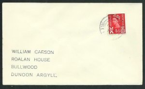 GB SCOTLAND 1971 cover NORTH TOLSTA / ISLE OF LEWIS cds....................66654