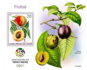 Sao Tome & Principe 2021 MNH Fruits Stamps Intl Year of Fruit & Vegetables 1v SS