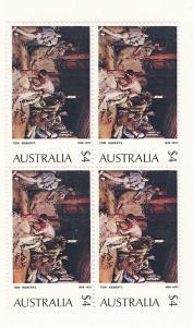 Australia, 576, Paintings, Block (4), MNH