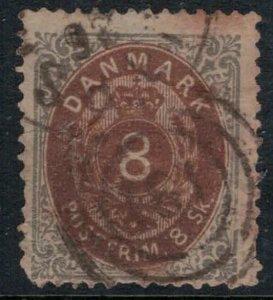 Denmark #19 tear  CV $75.00