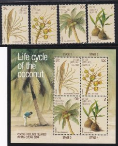 Cocos Islands # 173-176 & 176a, Life Cycle of the Coconut, NH, 1/2 Cat.