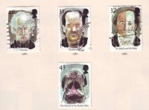 Great Britain Sc 1754-7 1997 Europa Legends stamps used