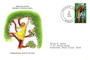 Central African Republic, Worldwide First Day Cover