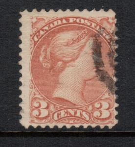 Canada #37d Used Fine Perf 12.5