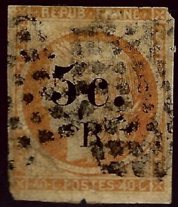 Reunion Sc #6 Used F-VF nibbed corners SCV$45...French Colonies are Hot!