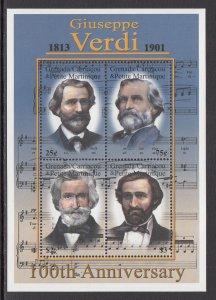 Grenada Grenadines 22335 Music Souvenir Sheet MNH VF