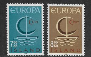 ICELAND, 384-385, MNH, EUROPA