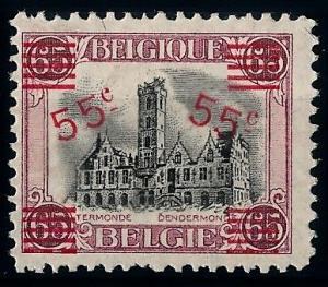[66450] Belgium 1921 Town Hall of Dendermonde Overprint VF MNH Original Gum