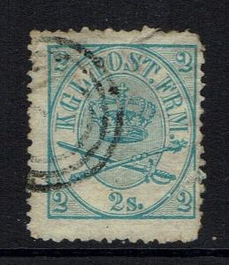 Denmark SC# 11, Used, Mixed Condition, torn, repaired, creased -  Lot 051417