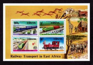 Kenya 67a Mint NH MNH Souvenir Sheet Railway Transport!