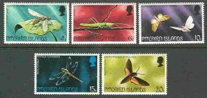 Pitcairn Is # 151-55 Insects    (5) Mint NH