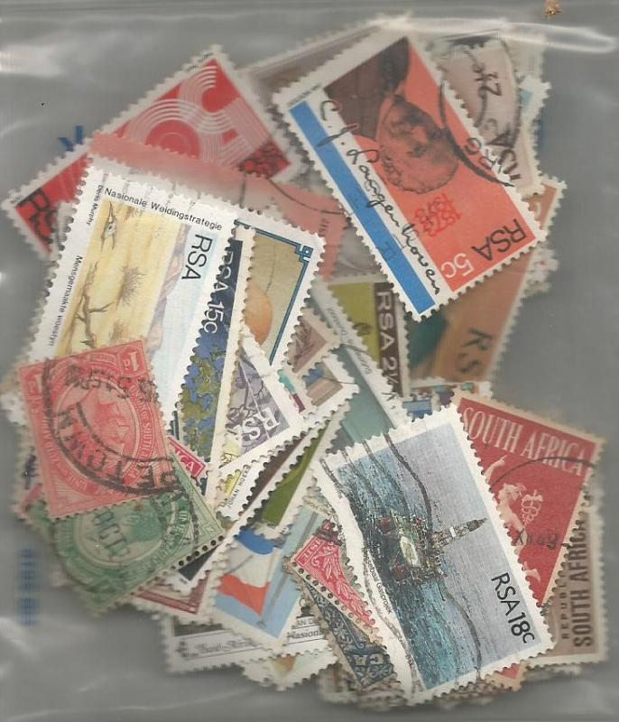 South Africa Mix x 100 used & Mint. All different. No. SA4