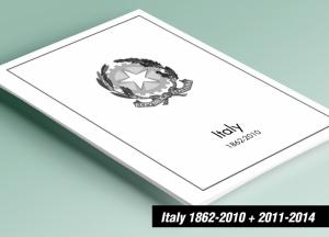 PRINTED ITALY 1862-2010 + 2011-2014 STAMP ALBUM PAGES (390 pages)