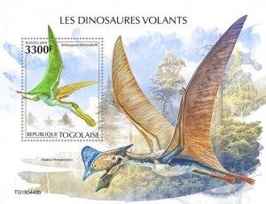 TOGO - 2019 - Flying Dinosaurs - Perf Souv Sheet  - M N H