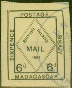 Madagascar 1895 6d Pale Yellow SG52 Fine Used