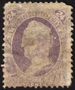 #153 24c Purple 1870 Used CV $230+