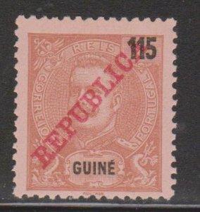 PORTUGUESE GUINEA Scott # 104 Mint NO GUM - With Overprint