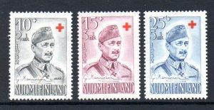 Finland B114-B116 MNH cv $7.50