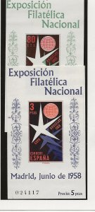 Spain 877a-878a MNH Set (1958 World's Fair)