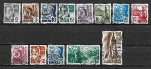 Germany 5N1-13, Various set Used (z1)