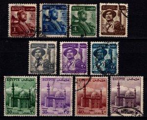 Egypt 1953 Definitives, Part Set [Used]