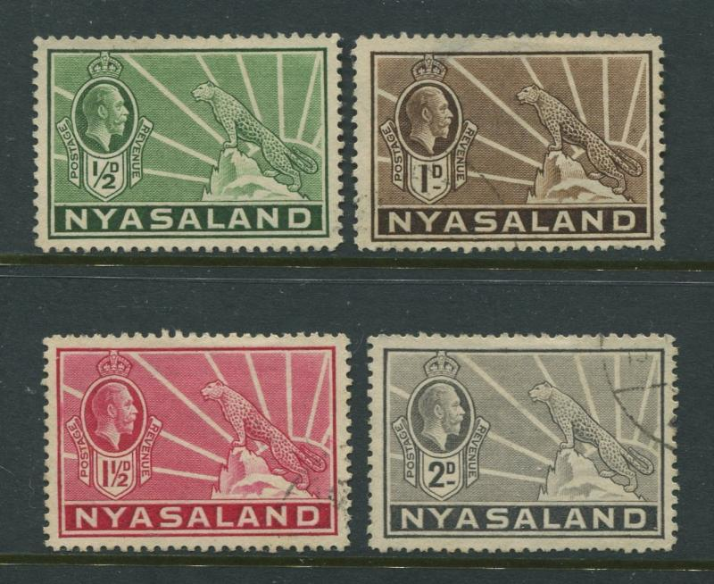 Nyasaland - Scott 38- 41 - Definitive Issue. -1934 - FU - Short Set of 4 Stamp