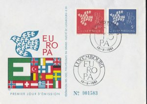 EU30) Luxembourg 1961 - Europa Stamps On First Day Cover
