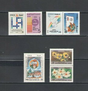 SYRIA: SY-03  / **GOOD LOT OF MODERN ISSUES**/ Complete Sets / MNH
